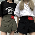 【bottoms】配色ファッション切り替え個性スカート19380788