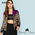 【FlamingoBeach】leopard jacket
