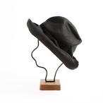 mature ha./BOXED HAT 101 black×black