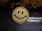 70's SMILE GLITTER Vintage Sticker GOLD