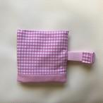 ピンクギンガムチェック  保冷袋付きランチベルト (新サイズ)