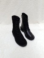 予約注文商品 レースアップシンプルウォーカー ウォーカーブーツ ブーツ 韓国ファッション