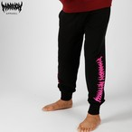 MARRIONAPPAREL LOGO SWEATPANTS (Black×Pink)