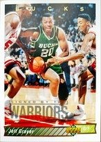 NBAカード 92-93UPPERDECK Keff Grayer #77 BUCKS