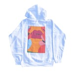 Boy≒Girl Lips hoodie(WHITE)