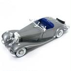 Maisto ミニカー 1:18 1934 メルセデス 500K シルバー No.200-087