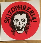 SKIZOPHRENIA - STICKER(skull)