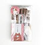 <母の日限定ギフト>お茶とお菓子のほっこりセットA(ごあいさつ茶・はなぎょくろ・林さんの松風)