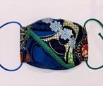 マスク  アフリカンバティック パッチワーク オリジナルハンドメイド