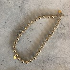 simple ball necklace gold/silver