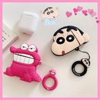【オーダー商品】Cute pink crocodile boy airpods case