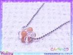 オレンジクォーツァイト×水晶 こんぺいとうペンダント