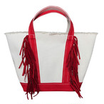 Side Fringe Tote Bag/RED