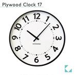KATOMOKU plywood clock 17 km-106BR ブラウン