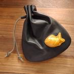 ちび鯛くんの巾着袋(茶色の鯛)