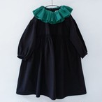 michirico ミチリコ Gather collar OP col.:Black size:XL(130-140)