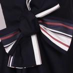 JESSIE AND JAMES 【Lily Dress=Navy Pink Stripe=】