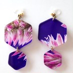 パープルバイオレットフラワー(イヤリング)/purple violet flower earring