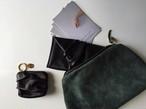 nejiri leather clutch bag