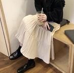 ティアード シンプル ロングスカート 2色 B1726