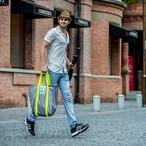 【予約商品】 【コントラストカラーシリーズ】 上海風ショッピングバッグ-M