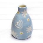 【モリーさん】青空色の花柄花瓶(大)/花瓶