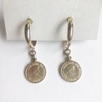 coin hoop pierce[p-676] ヴィンテージピアス