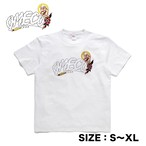 OMECO オメコ ロゴ スモーク Tシャツ (1カラー:ホワイト × 4サイズ:S/M/L/XL)