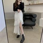 slid frill skirt