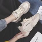 【shoes】レトロスエード視線集中厚底スニーカー14986823