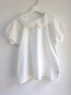 制服のように着たい清潔感あふれる白の丸襟ブラウス2 半袖。