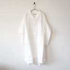 Ordinary fits オーディナリーフィッツ LONG BARBER SHIRT WHITE