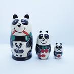 【ロシア】 マトリョーシカ 「パンダ」 3P 11cm