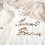 木製/レターバナー Just Born[B]