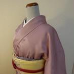 正絹 浅紫の色無地 袷の着物