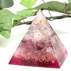 ピラミッド型Ⅱ オルゴナイト ローズクォーツ&ピンクトルマリン