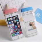 ユニーク 哺乳瓶型 iPhone シェル型 ケース ( ホワイト ピンク ゴールド ブルー パープル グリーン ) シリコン カラバリ豊富 おもしろい ★ iPhone 6 / 6s / 6Plus / 6sPlus / 7 / 7Plus ★ [KS070]