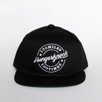 HUNGER KNOCK × 100miles 100times Trucker Cap (Black)