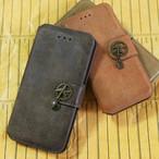 【送料無料!iPhone6/6s/7/7plus用】飛行機×イニシャル×手帳型iPhoneケース