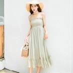 【dress】無地シンプル簡約森ガールワンピース