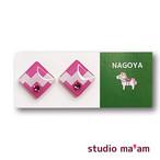 ■NAGOYA-05  ピアス。しかく。〜イヤリング変更可〜