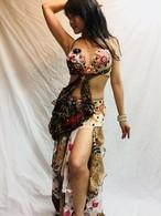 エジプト製ベリーダンス 衣装 豹柄
