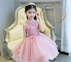 pink girl party biethday 発表会 誕生日 イベント セレモニー フォーマル ドレス プリンセス 海外ドレス
