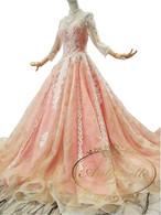 特注品 オーダーエイド可能 大き目サイズ 可能 ウェディングドレス ピンク ドレス 結婚式 二次会 花嫁 パーティードレス ウエディング ブライダル 大きいサイズ 花嫁 披露宴 ブライダルドレス