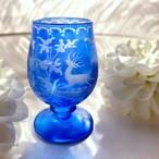 ボヘミアンガラスのリキュールグラス