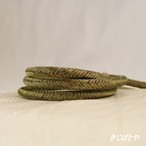 正絹 丸組の帯締め 利休茶
