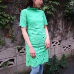 Green high neck onepiece