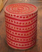 モンキーポッド材 スツール 椅子 赤 インテリア 雑貨