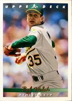 MLBカード 93UPPERDECK Bob Welch #407 ATHLETICS