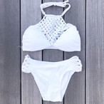 Bikini♡ホワイトフロントネットビキニ GSB18S082WHT